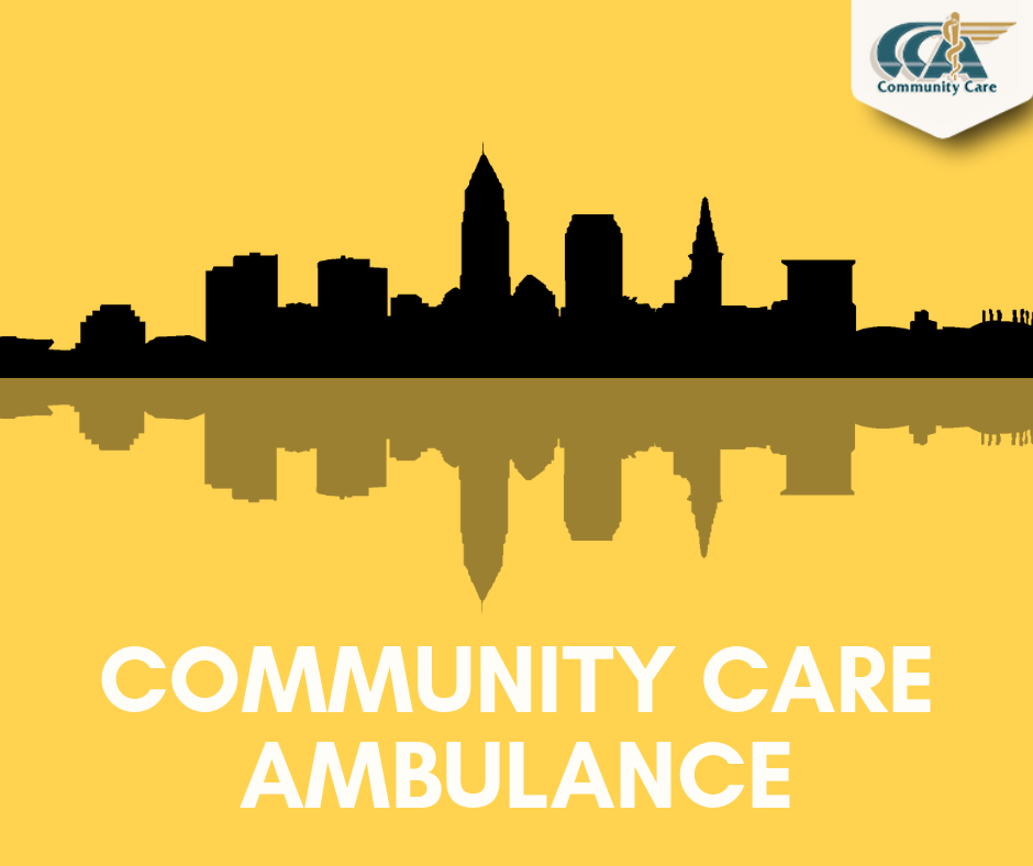 Community Care Ambulance Cleveland Skyline